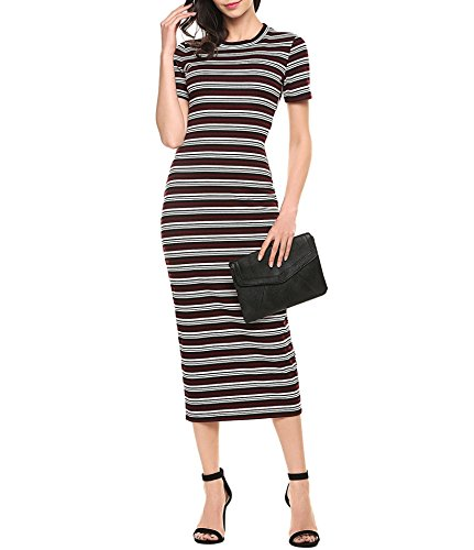 ANGVNS Womens Striped Lightweight Dresses