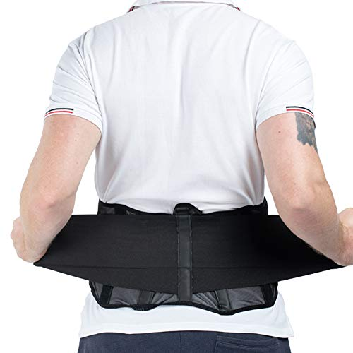 Lumbar Support Back Brace, Adjustable Lower Back Support Belt for Back Pain Relief - Breathable Mesh Design Dual Straps for Sciatica, Scoliosis and Herniated Disc - Large