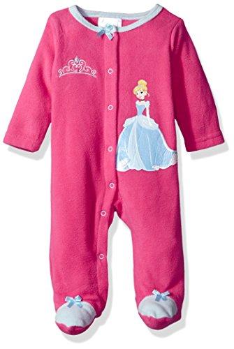 Disney Baby Girls' Cinderella Footie Sleeper, Beetroot Purple, 6-9 Months