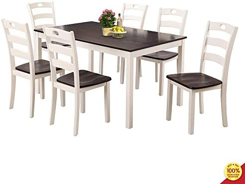 MOOSENG 7 Piece Dining Room Set