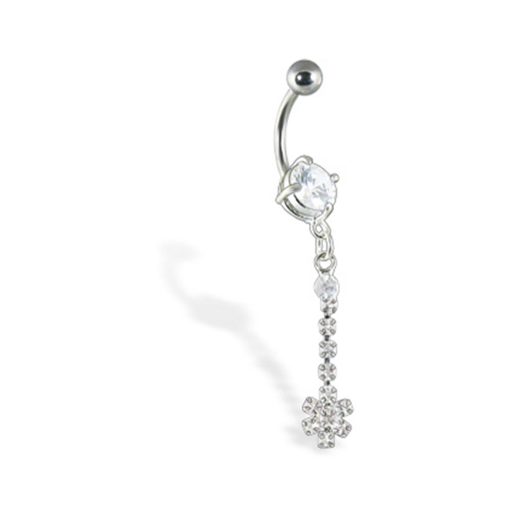 MsPiercing Navel Ring With Dangle