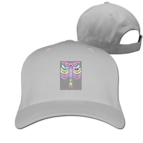 WEINFUN Bear Bones Drip Baseball Cap Fashion Unisex Plain Hat