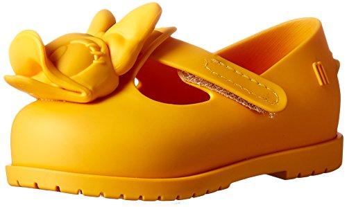 Flat Classic Girls (Mini Melissa Girls' Mini Classic Baby + Mickey Friends Mary Jane Flat, Yellow/Orange, 7 Medium US Toddler)