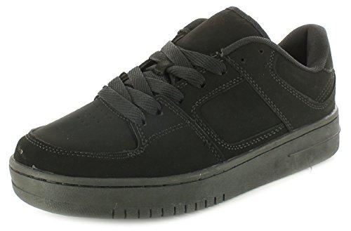 Herren Schwarz UK Skateschuhe Nubuk Rockstorm Größen 13 schnürbar Imitat Herren schwarz Turnschuhe 6 NEU schwarz z0Pr50