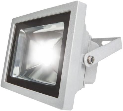 as - Schwabe Chip-LED-Strahler 20 W, geeignet für Außenbereich, Gewerbe, silber, 46925