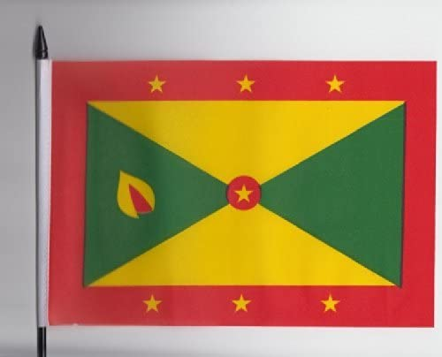 Grenada Medium Hand Held Flag 23cm x 15cm