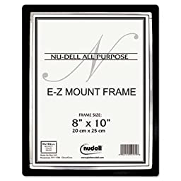 Nudell - 4 Pack - Ez Mount Ii Document Frame Plastic 8 X 10 Black/Silver \