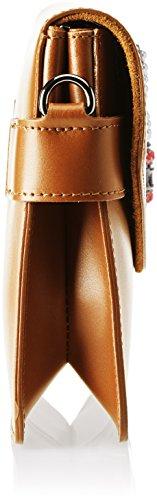 Chicca Borse 8801 Borsa A Spalla Donna 28x19x5 Cm w X H L Marrone cuoio