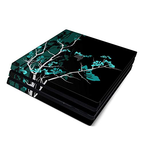 Aqua Tranquility Full Faceplates Skin Decal Wrap with 2 Piece Lightbar Decals for Playstation 4 Pro ()
