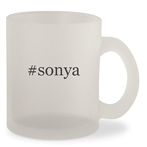 #sonya - Hashtag Frosted 10oz Glass Coffee Cup (Sonya Blade Boots)