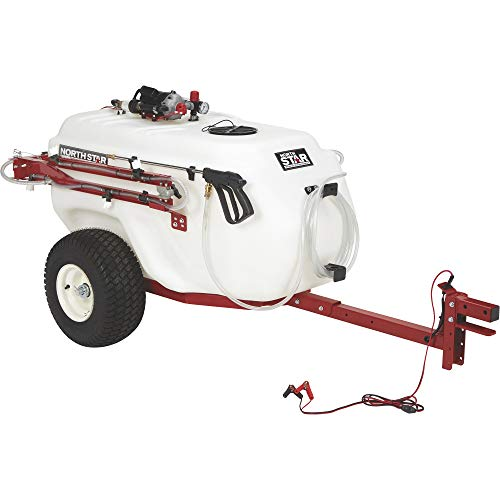 - NorthStar Tow-Behind Trailer Boom Broadcast and Spot Sprayer - 101-Gallon Capacity, 7.0 GPM, 12V DC