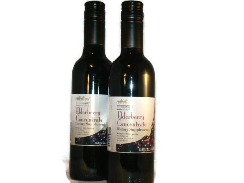 Elderberry Juice Concentrate 12.5 fl. oz. (Pack of 2) by Wyldewood Cellars - Elderberry Concentrate