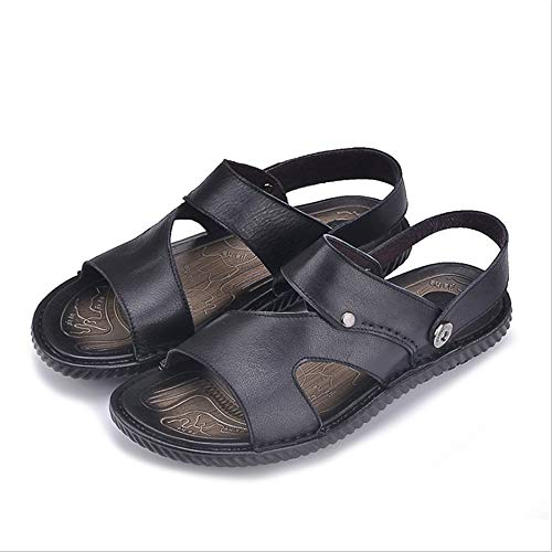da skid Uomo CM Nero pantofole 0 Nero spiaggia Traspiranti Cool Leather Wagsiyi Scarpe Scarpe 27 Outdoor Anti Sandalo Pantofole 24 0 0URdnnqE