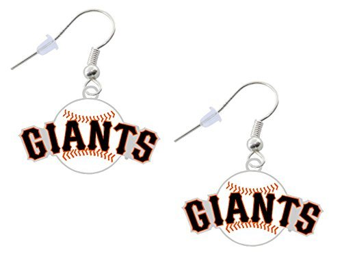 San Francisco Giants Ball Logo Earrings Pierced