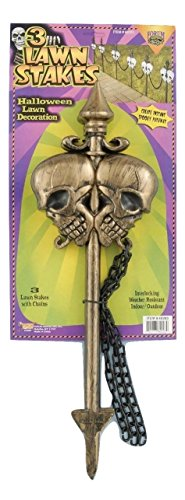 Skull Lawn Stakes - Gold - 3pcs Prop (Skull Lawn Stakes)