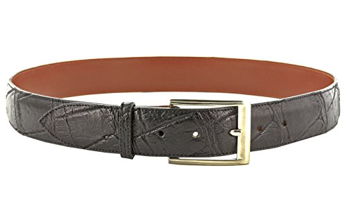 El Presidente - Men's Black Genuine Alligator Belly Skin Leather Western Cowboy Belt 44 by El Presidente (Image #2)
