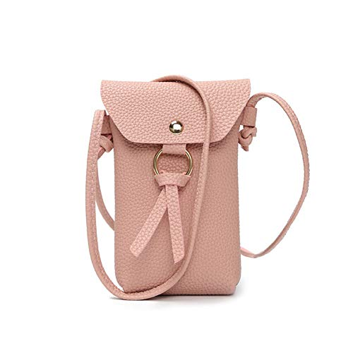 PU Black Buy Messenger Bag Women Simple Leather Pink Leisure Purse Mobile Bag 1Pcs Coin Phone Joyfeel 6YqCw6