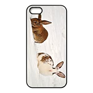 Lovely Rabbit Hight Quality Plastic Case for Iphone 5s