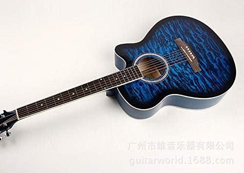 HVTKLN 40インチのアコースティックギターインドの虎のバスウッドエントリギターJITA HVTKLN (Color : Blue, Size : 40 inches)