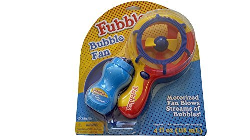Requires 2aa Batteries (Fubbles Seasons Of Fun Bubble Fan With 4OZ Solution, Assorted Color, Requires 2AA Batteries Not Included)