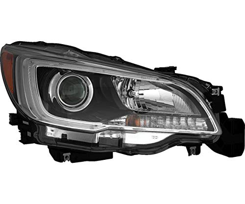 New Right Passenger Side Halogen Headlight Assembly For 2015-2017 Subaru Legacy, Subaru Outback, With Black Bezel, With Chrome Trim, 3.6 Liter Engine SU2503149 (Trim Chrome Legacy Subaru)