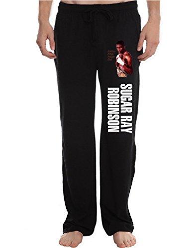 Leonards Workout Suits - RBST Men's Thomas Hearns Running Workout Sweatpants Pants XXL Black