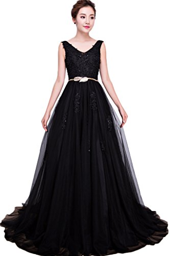 Missdressy - Vestido - Escotado por detrás - para mujer negro