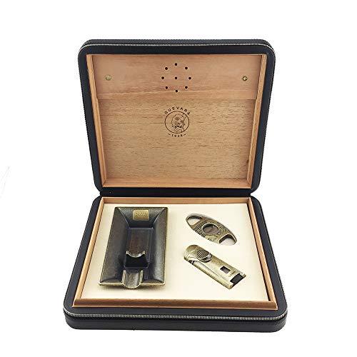 Guevara Cigar Gift Set Gift Box Ashtray(1) + Cutter(1) + Lighter(1) (Gold) by Guevara (Image #10)