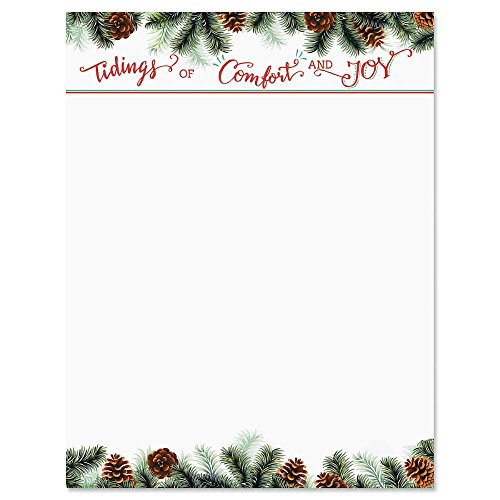 - Tidings Christmas Letter Papers - Set of 25 Christmas stationery papers are 8 1/2