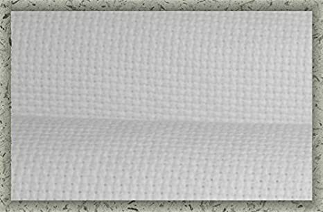 11 Count Aida Cloth (DMC/Charles Craft) - 60x62 (Tablecloth/Bedspread size) - White, 100% Cotton