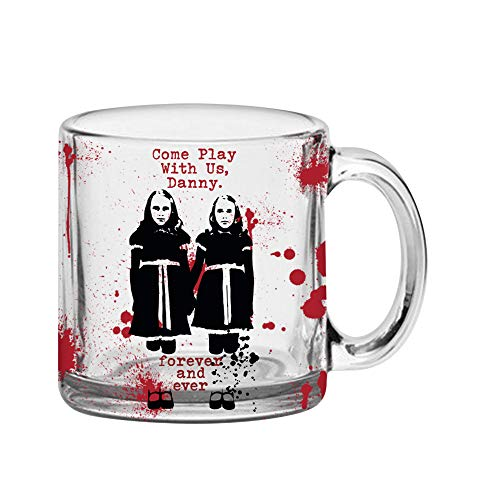 Warner Brothers SHN2016A The The Shining Come Play With Us Glass Coffee Mug, 17.5-Ounce, Green