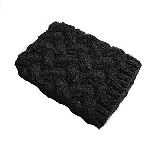 Black Boot Cuff Accessory - FAYBOX Short Women Crochet Boot Cuffs Winter Cable Knit Leg Warmers Black