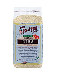 Bob\'s Red Mill Organic Oat Bran Hot Cereal, 18 Ounce Bags (Pack of 4)