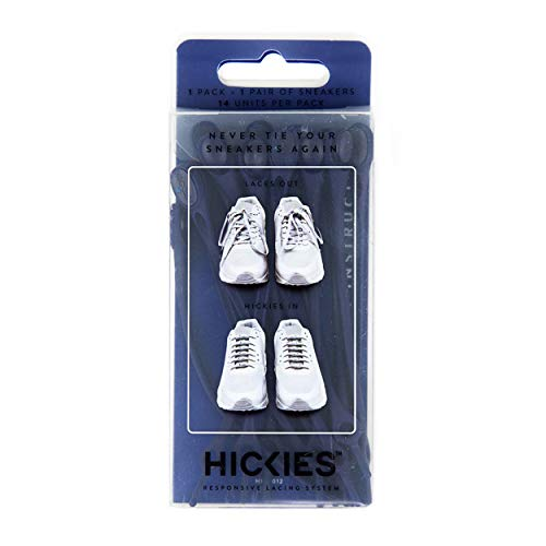 HICKIES 1.0 One Size Fits All Elastic No Tie Shoelaces - Navy (14 HICKIES Laces, Works in all shoes)