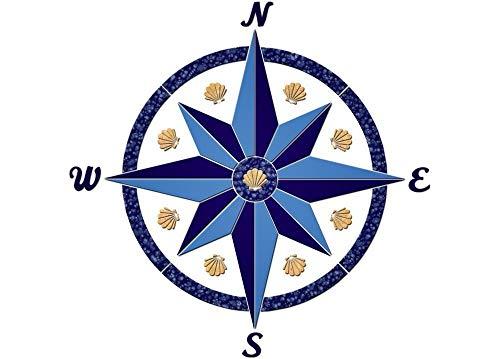 Compass 5 Ceramic Swimming Pool Mosaic (24