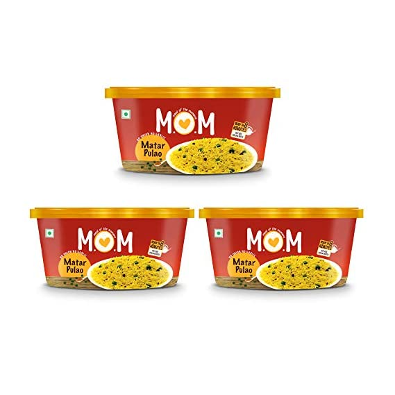 MOM - MEAL OF THE MOMENT Instant Matar Pulao (80 g) - Pack of 3