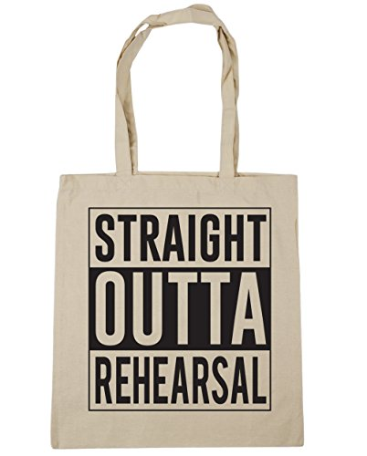 Shopping Outta Tote Rehearsal litres 42cm x38cm 10 HippoWarehouse Straight Beach Bag Natural Gym 51qIInfU