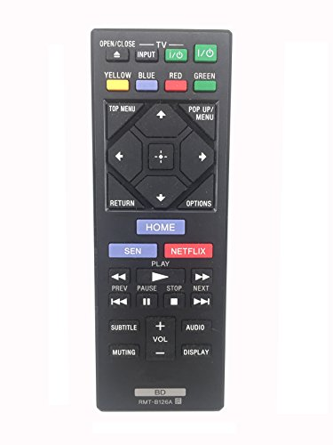Meide RMT-B126A Sony Replacement Remote Control for Sony Blue-Ray Disc Player BDP-S550 BDP-S5000ES BDP-BDPBX1