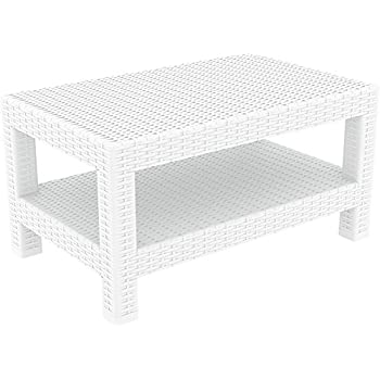 Amazon.com : Polywood CLT1836WH Club Coffee Table White ...