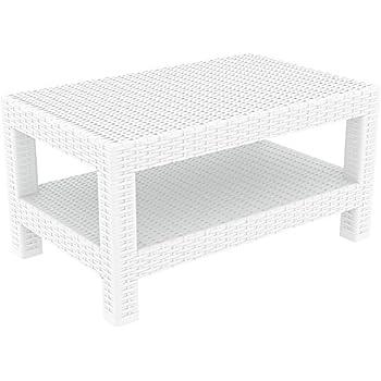 Amazon.com : Polywood CLT1836WH Club Coffee Table White ...