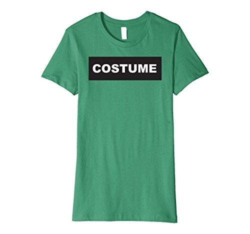Womens Funny Last Minute Simple Halloween Costume Graphic Tshirt Large Kelly (Simple Last Minute Halloween Costumes)