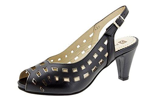 sandalia confort fiesta ancho Calzado 4279 zapato mujer Piesanto cómodo Platino de piel R5OSYw