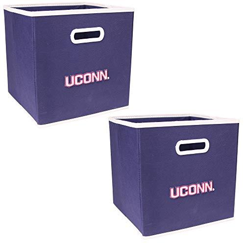 - NCAA Collapsible Box Storage Bin Drawer (2 Pack) (Connecticut Huskies)