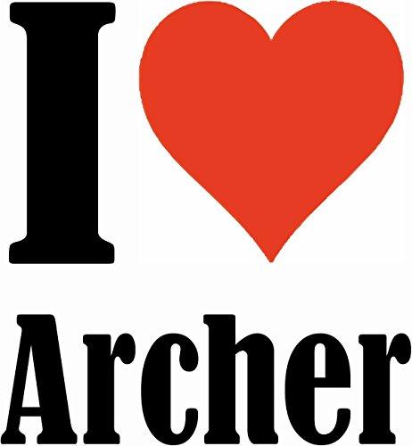 """Handyhülle iPhone 4 / 4S """"I Love Archer"""" Hardcase Schutzhülle Handycover Smart Cover für Apple iPhone … in Weiß … Schlank und schön, das ist unser HardCase. Das Case wird mit einem Klick auf deinem Sm"""