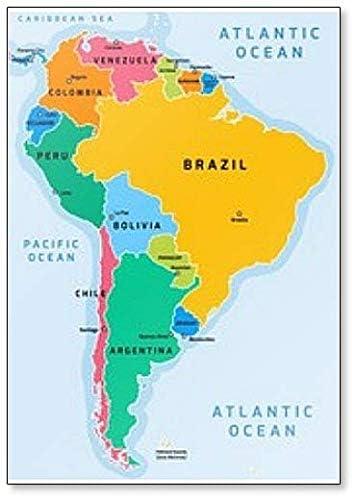 Amazon De Kuhlschrankmagnet Sudamerika Karte