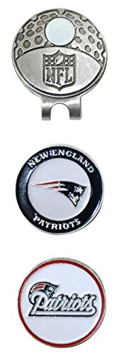 Team Golf NFL New England Patriots Golf Cap Clip with 2 Removable Double-Sided Enamel Magnetic Ball Markers, Attaches Easily to Hats