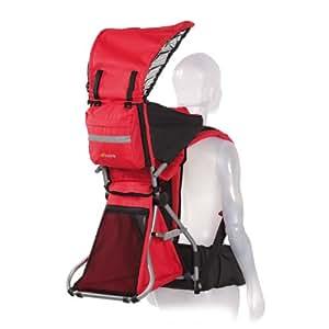 Hauck 593202 Explorer - Mochila transporta bebés (niños de 3,5 a 18 kg), color rojo