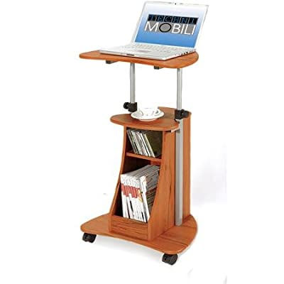Rolling Laptop Cart with Storage, Multiple Finishes