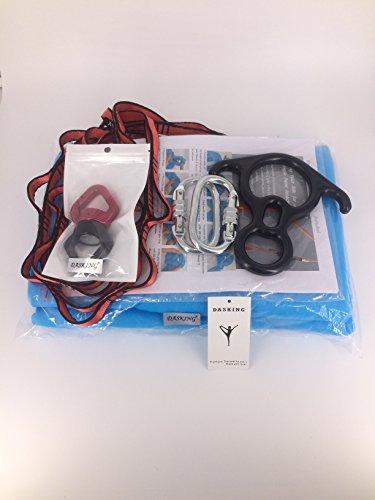 Dasking Premium Aerial Silks Equipment - Safe Deluxe Aerial Kit (Black)