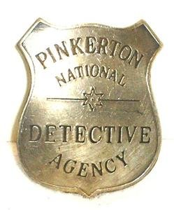 Pinkerton Detective Agency Obsolete Old West Police Badge